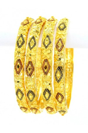 Gold Plated Bangles 58754-2-4