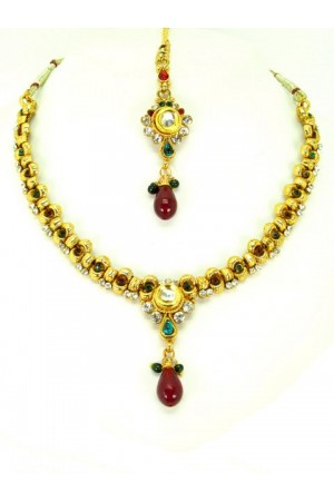 Indian Polki Necklaces 63920