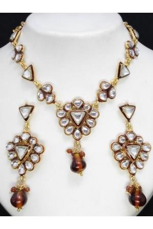 Designer Latest Rajwadi Jewellery Set 15373