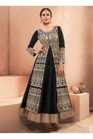 Ethnic Silk Embroidered Work Designer Gown