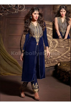STERLING LACE AND RESHAM WORK DESIGNER SALWAR KAMEEZ