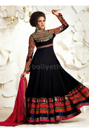 Black designer Party wear Anarkali suit