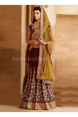 OPULENT FLORAL AND RESHAM ENHANCED LEHENGA SAREE