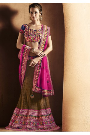 Vivacious Brown Lehenga Choli