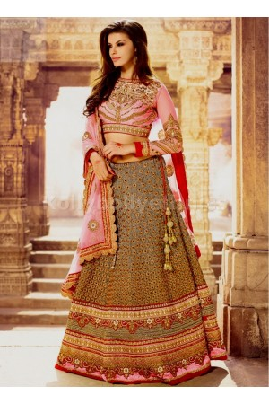 Bridal pink and cream exclusive lehenga