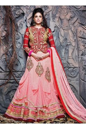 630d2c6aeb Competent Art Silk And Net Jacket Style De