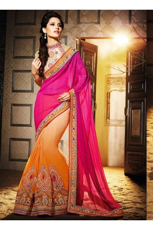 Delightsome Multi Color Georgette Saree