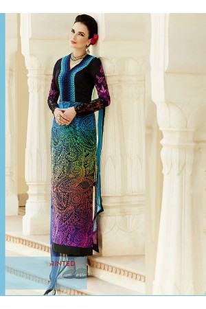 Amicability Multi Color Cotton Silk Churidar Suit