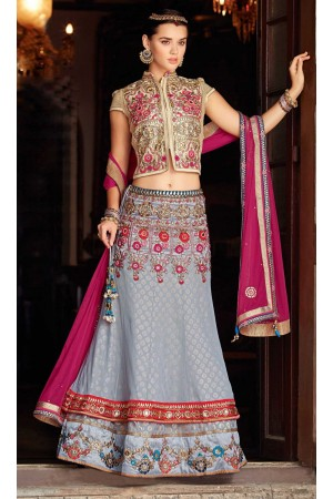 Authentic Ash Grey Lehenga Choli