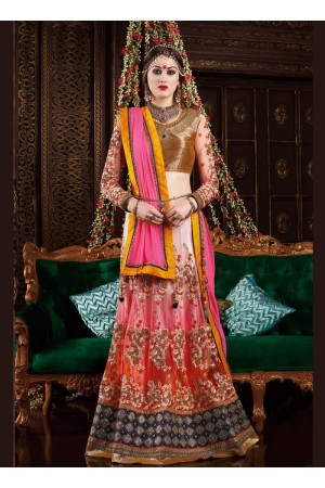 Breathtaking Multi Colour A Line Lehenga Choli