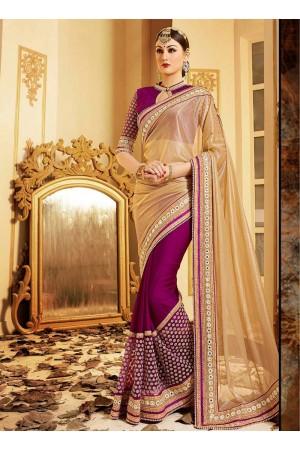 patch-border-work-party-wear-saree-beige-lycra