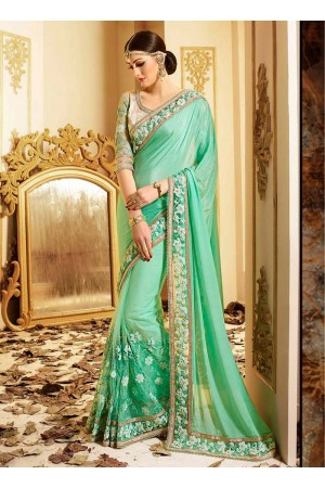 patch-border-work-party-wear-saree-light-green-silk