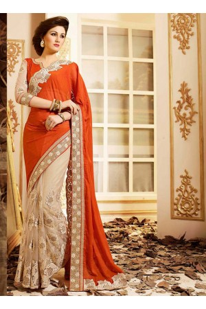 patch-border-work-party-wear-saree-orange-chilli-nazneen