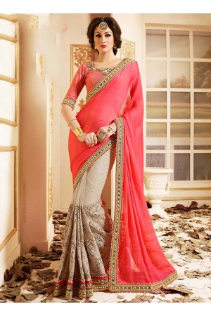 patch-border-work-party-wear-saree-peach-chiffon-2