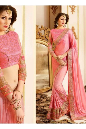 patch-border-work-party-wear-saree-peach-chiffon-3