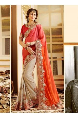 patch-border-work-party-wear-saree-peach-silk