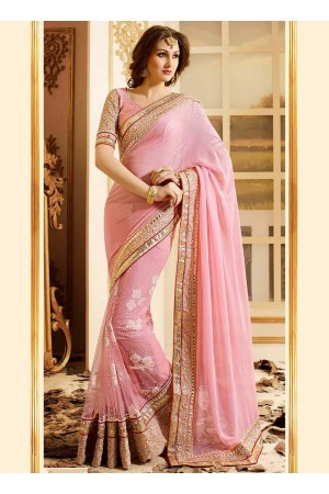 patch-border-work-party-wear-saree-pink-bamber