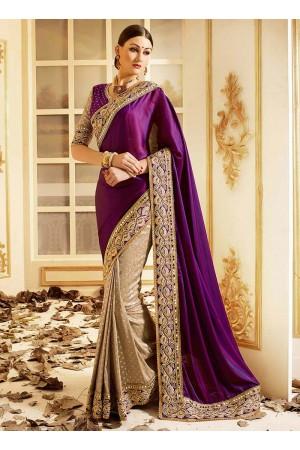 patch-border-work-party-wear-saree-purple-silk