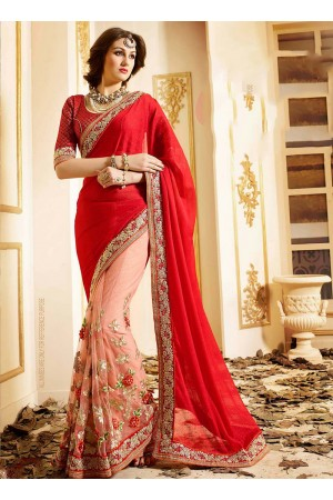 patch-border-work-party-wear-saree-red-chiffon-1