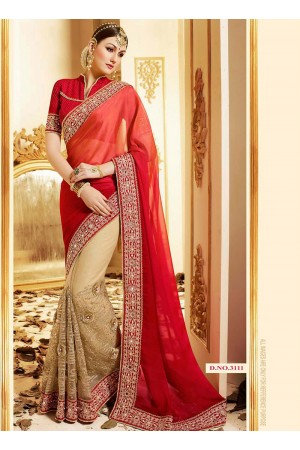 patch-border-work-party-wear-saree-red-georgette