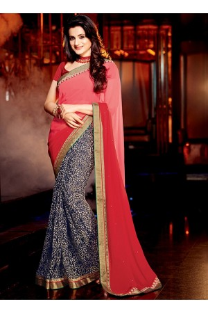 Ameesha Patel Multi Color Georgette Sarees