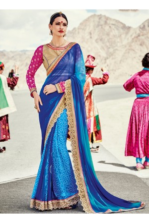 faux-georgette-heavy-embroidery-work-party-wear-Saree-blue-2002