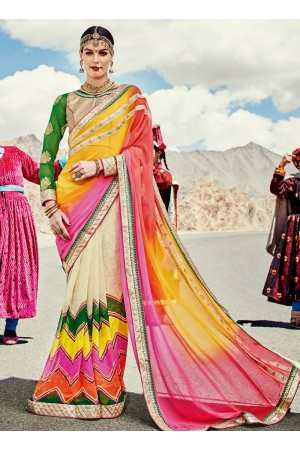 faux-georgette-heavy-embroidery-work-party-wear-Saree-multi-color-2005