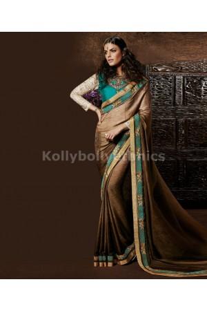 Shaded Jacquard saree with art silk blouse