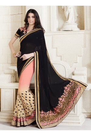 georgette-embroidery-work-party-wear-saree-black-2508