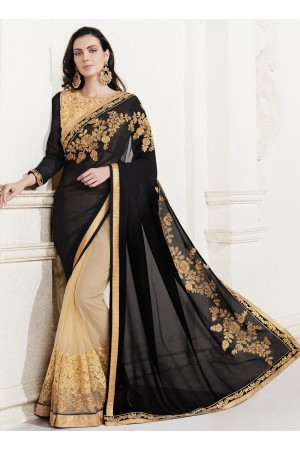 georgette-embroidery-work-party-wear-saree-black-2517
