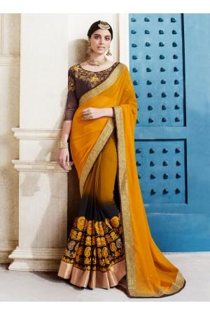 georgette-embroidery-work-party-wear-saree-mustard-2501