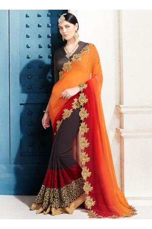 georgette-embroidery-work-party-wear-saree-orange-2503