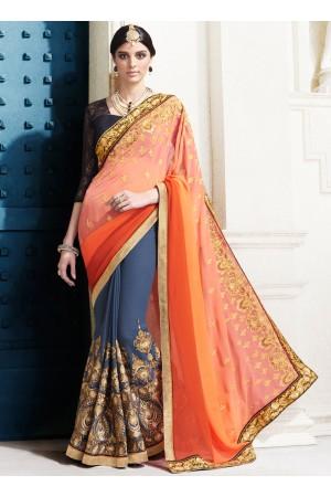 georgette-embroidery-work-party-wear-saree-orange-2520