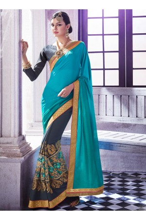 georgette-embroidered-work-party-wear-saree-sky-blue-9508