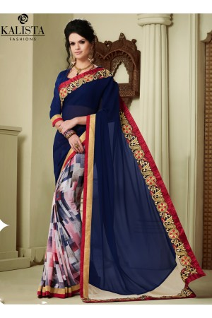 georgette-lace-border-work-party-wear-saree-blue-1605