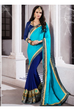 jacquard-embroidered-work-party-wear-saree-sky-blue-9505
