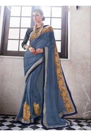 lycra-embroidered-work-party-wear-saree-grey-9510
