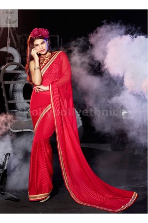 Jacqueline Fernandez pink shaded Party wear saree