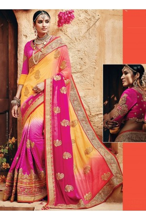 Absolute Georgette Multi Colors Saree