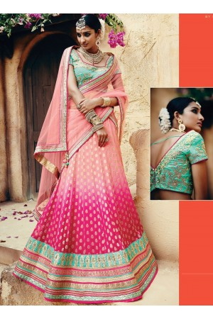 Catchy Magenta Georgette Wedding Wear Lehenga Choli