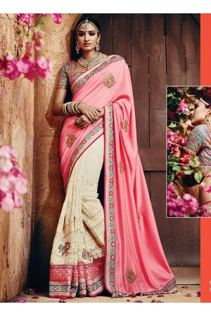 Legendary Pink Georgettes Sarees