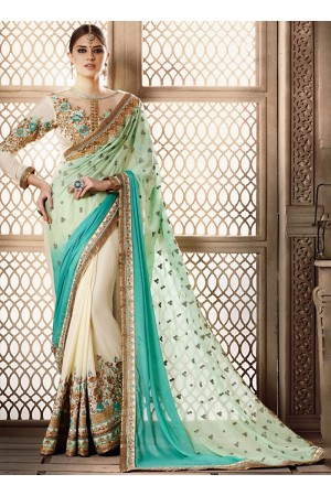Demure Georgette Multi Colors Saree
