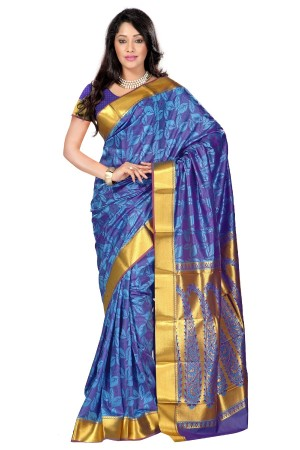 Nandani Silk Mordern Paisley Rich Zari Pallu Art saree-Ananda