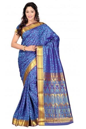 Nandani Art Silk Rich ZariPallu Emboss Art saree-Ananda