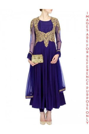 Featuring an Indigo sheer Anarkali