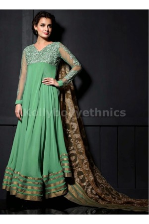 Sea green Dia mirza designer suit