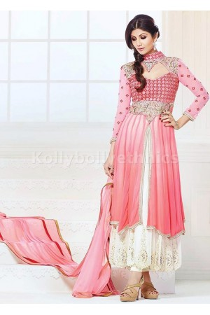 Shilpa shetty pink designer outfit