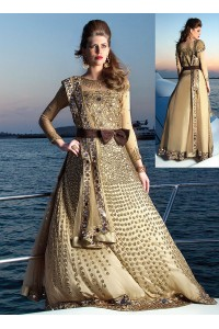 Luxury Designer Speechless Cream Heavy Anarkali Suit