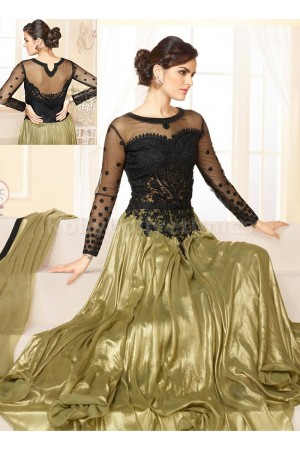 Black and golden Party Wear Anarkali