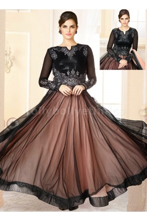 Black net sequins work Party Wear Anarkali